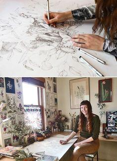 Edith Rewa in her home studio aka 'The Bush Museum' http://edithrewa.com