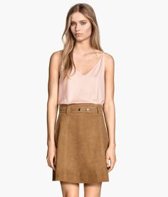 Top and suede skirt | H&M DE