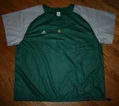 Notre Dame Irish Green Pullover Adidas WindShirt-2XL-wind shirt-golf-football