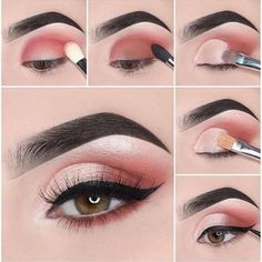 Easy Steps Pink Eye Makeup Tutorial Ideas For Beginners To Look Amazing! - Easy Steps Pink Eye Makeup Tutorial Ideas For Beginners To Look Amazing! Pink Eye Makeup, Smokey Eye Makeup, Eyeshadow Makeup, Eyeshadow Ideas, Colourpop Eyeshadow, Glitter Eyeshadow, Colorful Eyeshadow, Eyeshadows, Face Makeup