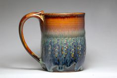 mug stoneware pottery 10oz hand thrown pottery by DrostePottery