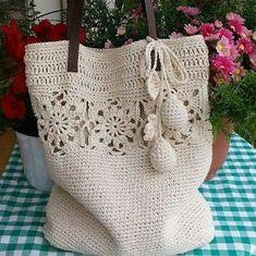 Grandiosos diseños de bolsas tejidas a crochet paso a paso - Tejidos a crochet paso a paso - Stricken anleitungen,Stricken einfach,Stricken ideen,Stricken tiere,Stricken strickjacke Crochet Fabric, Crochet Tote, Crochet Handbags, Crochet Purses, Love Crochet, Crochet Stitches, Knit Crochet, Crochet Patterns, Crochet Designs