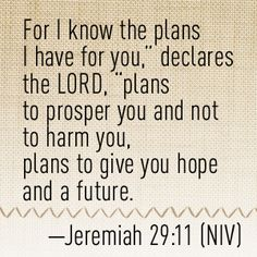 """August 7 2013 Daily Vitamin Plan, Jer.29:11""""For I know the plans I have for you , says the Eternal, plans for peace, not evil, to give you a future and hope-never forget that"""" Gods plan A is still in effect, for you and I to have dominion! Be a blessing, Sir Gregory"""