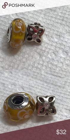 2 Pandora Charms In very good condition Pandora Jewelry Bracelets