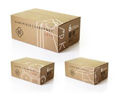 Karipidis Winery on Packaging of the World - Creative Package Design Gallery Kraft Packaging, Candle Packaging, Design Case, Box Design, Carton Design, Wine Label Design, Cardboard Packaging, Carton Box, Craft Box