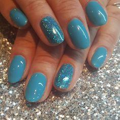 Artistic Colour Gloss Tiki My Fancy Available at Louella Belle #ArtisticColourGloss #Blue #BlueNails #Glitter #GelNails #GelPolish #LouellaBelle