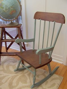 80 Miles To Brewster Rocking Chair Makeover Paint Dipped