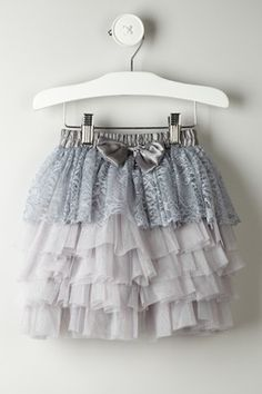 Lace & Bow Detailed Mesh Skirt