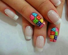 Find images and videos about nails and unhas on We Heart It - the app to get lost in what you love. Get Nails, Love Nails, Pretty Nails, Quilted Nails, Manicure E Pedicure, Toe Nail Designs, Nagel Gel, Gel Nail Art, Nail Nail