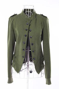 prendas de abrigo de las mujeres de moda breve cuello de pie doble botonaduraa chaqueta corta chaqueta de