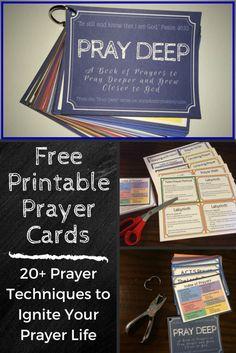 Printable Prayer Cards                                                                                                                                                                                 More Faith Prayer, Fervent Prayer, Bible Prayers, Catholic Prayers, Cristo, Bible Lessons, Lds, Prayer Ideas, Prayer Box