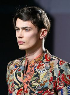 Something about the guys facial structure and that pattern