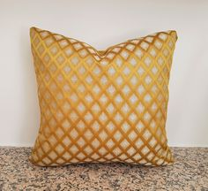 Yellow Throw Pillows, Yellow Cushions, Gold Pillows, Velvet Pillows, Yellow Cushion Covers, Leather Pillow, Designer Pillow, Decorative Pillows, Etsy Shop