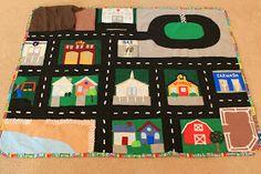 Little Inspirations: Christmas Car Map Christmas Car, Toddler Christmas, Christmas Ideas, Christmas Crafts, Creative Activities, Book Activities, Activity Books, Toddler Activities, Felt Play Mat