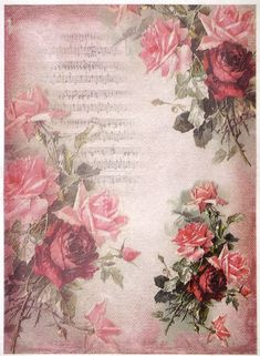 Details about Rice paper -red roses on pink background- for Decoupage Scrapbooking Sheet Craft Rice paper -red roses on pink backgroun- for Decoupage Scrapbooking Sheets Craft Vintage Diy, Decoupage Vintage, Vintage Paper, Vintage Flowers, Decoupage Printables, Foto Transfer, Red And Pink Roses, Paper Napkins For Decoupage, Vellum Paper