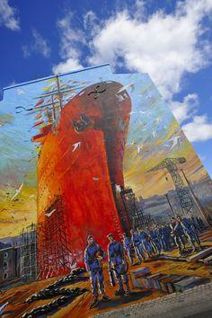 Fresque #Brest #Réparation #navale