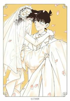 Art by @文神原  Shinichi and Ran <3