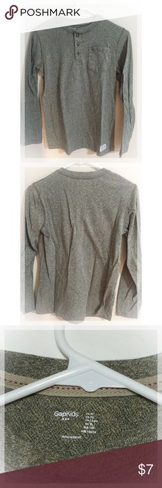 Boy's GAP Gray Long Sleeve shirt (size 12) Excellent condition! GAP Shirts & Tops Tees - Long Sleeve