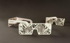 Electro-phosphorescent print design for Nordik Impakt festival by Murmure. Stunning work.