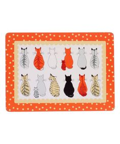 Another great find on #zulily! Cats in Waiting Cork Place Mat - Set of Four #zulilyfinds