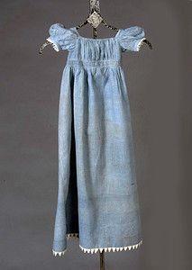 Infants Calico Dress, c. 1820