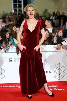 Fabulously Spotted: Najwa Nimri Wearing Emporio Armani - 17th Malaga Film Festival 2014 Opening Ceremony - http://www.becauseiamfabulous.com/2014/03/najwa-nimri-wearing-emporio-armani-17th-malaga-film-festival-2014-opening-ceremony/