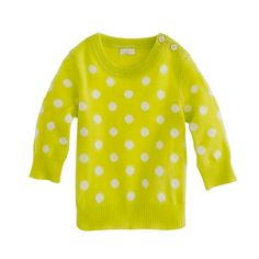 J.Crew - Collection cashmere baby sweater in polka dot