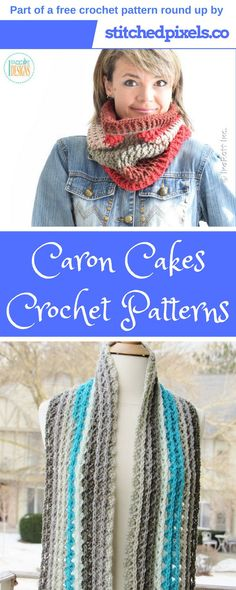 Check out the Caron Cakes Free Crochet Pattern Round up! There are 12 FREE pattern, plus a few bonus paid patterns listed!  To get the patterns, just click the link!