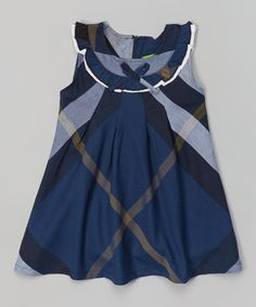 Look at this #zulilyfind! Blue Plaid A-Line Dress - Infant, Toddler & Girls by Jelly Bean #zulilyfinds