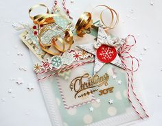 Christmas Joy Vellum Pocket with Gift Tags by Dani at @studio_calico