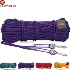 XINDA 10M Professional Rock climbing tools mountain climbing rope equipment 10.5mm Dia 25KN
