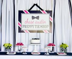 Hostess with the Mostess® - Preppy Tie Shop Birthday Party