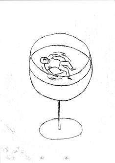 nadiadedonno.ch illustration - alcool - glass - swimming pool Tiered Cakes, Illustration, Wine Glass, Swimming, Graphic Design, Tableware, Alcohol, Swim, Dinnerware