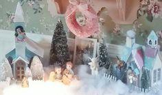 A pink Vintage Christmas, Putz Houses, Angels...photo by Julie Cruzan