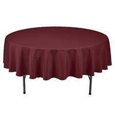 Remedios 90inch Round Polyester Tablecloth  for Wedding Restaurant or Banquet use Burgundy * Find out more about the great product at the image link. Note:It is Affiliate Link to Amazon.