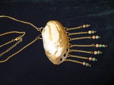 Solar Sea Shell Statement Necklace