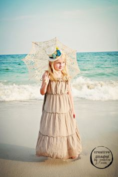 white hat on the beach! LOVE this! by Lisa's mini mad hattery, see her on etsy