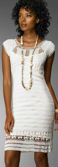 Crinochet: Dress by Nordstrom crochet dress in elegant white