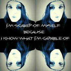 """I'm scared of myself, because i know what im capable of""   Mental Health is a big problem in this todays world. Suicide is one issue that doesnt get attention. If its a big issue with people committing suicide but no one wants to help prevent it. Suicide is a silent killer, its a murderer to your own self."