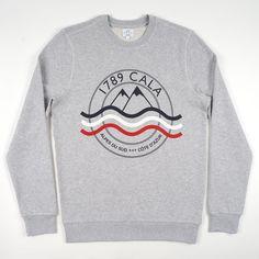 Sweat-Shirt Alpes du Sud gris chiné - 1789 Cala - 1789 Cala