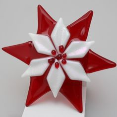 Poinsettia | Fused glass