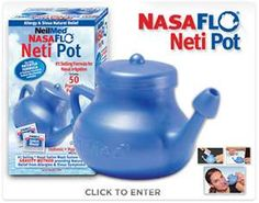 Woke up this morning with a headache and could only breath out of one side of my nose.  Then I remembered how much I love my Neti Pot.  I feel much better!