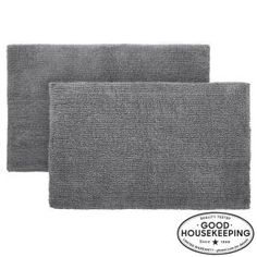Home Decorators Collection Charcoal 24 in. x 40 in. Cotton Reversible Bath Rug (Set of Grey Granite Vanity Tops, Marble Vanity Tops, Marble Top, Basin Cabinet, Vanity Cabinet, Sterling Grey, Modern Tops, Raised Panel Doors, Concealed Hinges