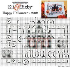 Happy Halloween cross stitch chart Click on the PDF below pattern pic