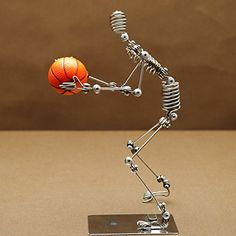 Basketball Action Figure Wire Man, Toy Model (7 Inches); Souvenir NBA Puppet Mannequin Toys Games Toys Sports Toys