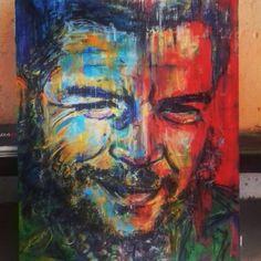 Che 120cm x 100cm. #che #cheguevara #paint #art #cuba