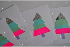 Los Pinos Winter Card Set of 4 4 - Original blank collage and hand screen printed cards 4 - Envelopes Original Design by Essimar 2010 Christmas Tree Cards, Christmas Crafts, Christmas Ideas, Xmas, Christmas Things, Holiday Ideas, Holiday Cards, Merry Christmas, Christmas Craft Projects