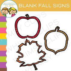 Free Blank Fall Signs Clip Art
