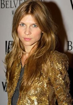 Clemence Poesy drop dead gorgeous gold sequinned jacket