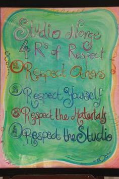 art room rules - Google Search
